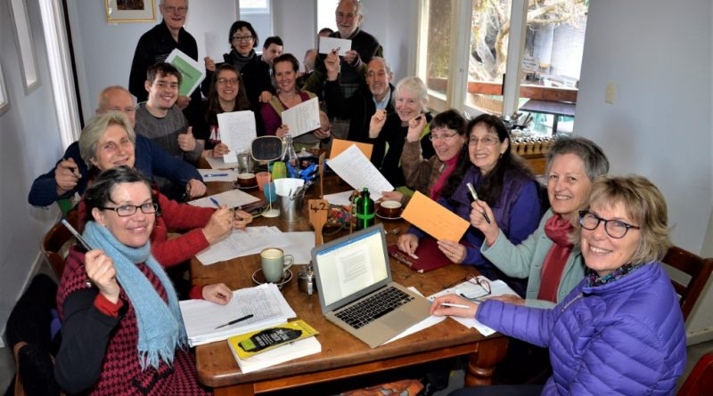 Some of those who participated in the letter writing campaign calling on federal Labor to oppose new coal projects including the Adani coal mine.