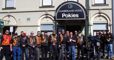 About 80 members of the Bandidos Motorcycle Club gathered at the Cumberland Hotel in Castlemaine last Saturday for lunch to support the Parma for a Farmer campaign.