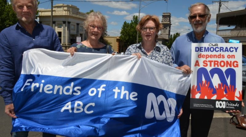 Geoff Freeman, Nancy Toohey, Kaye Swanton and Vic Say encourage other passionate ABC supporters to join ABC Friends Castlemaine.