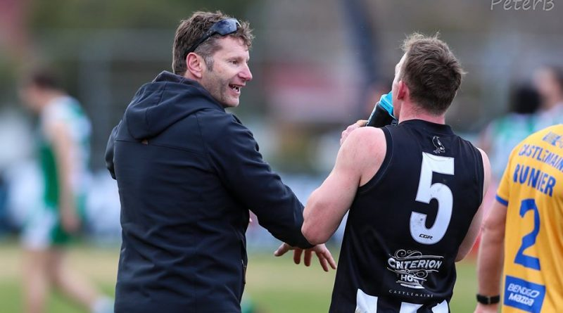 Magpie senior coach Don Moran pictured in action (left) will return to the role in 2021. Photo: Peter Banko.