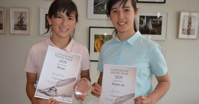 Year 10 and Under winner and runner-up sisters Lucy and Joy Price are proudly pictured with their awards.