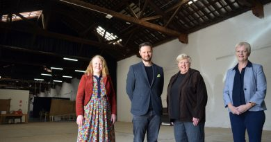 Castlemaine State Festival general manager Krista Horbatiuk, director and CEO Glyn Roberts, deputy chair Christine Nixon APM and Bendigo West MP Maree Edwards are pictured at Monday's announcement.