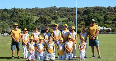 The Castlemaine District Cricket Association's Under 13 side were all smiles at last week's Junior Country Week comp.